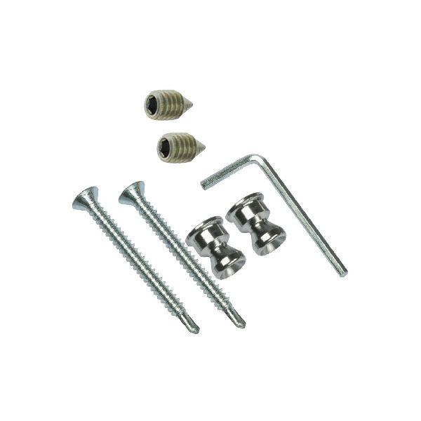 Kit n° 1: fixation simple invisible pour montage sur bois, métal et PVC