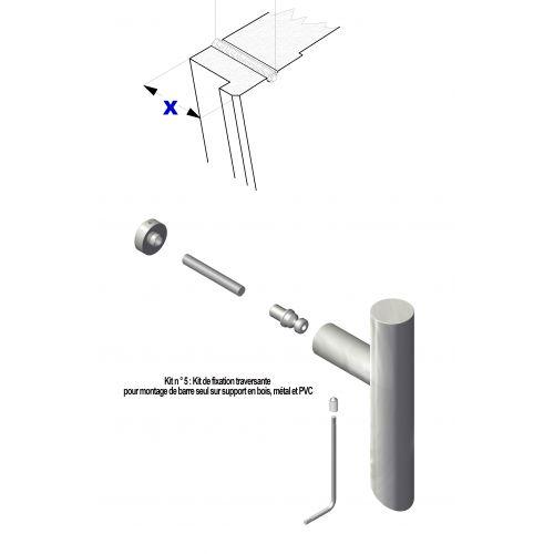 N°5 : Kit de fixation traversante pour montage sur bois, métal et PVC