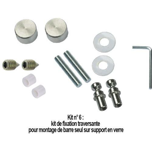 N°6 : Kit de fixation traversante pour montage sur verre