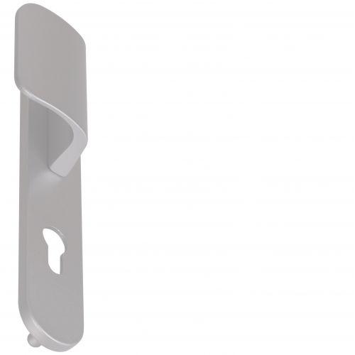 Angle 4: Poignée Zenia palière sur plaque avec piliers F1