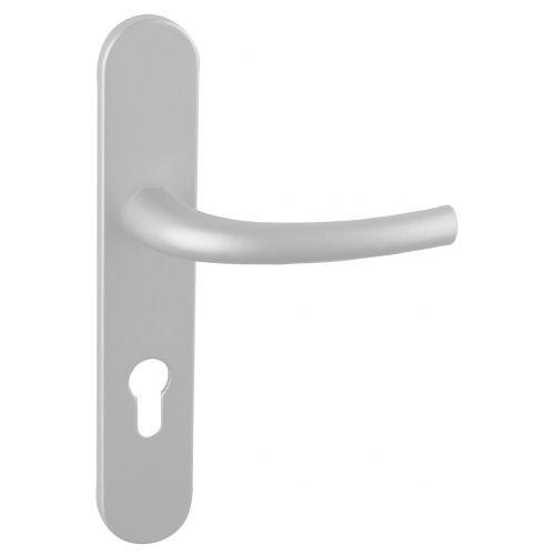 Angle 2: Poignée Zenia béquille normale sur plaque avec piliers F1