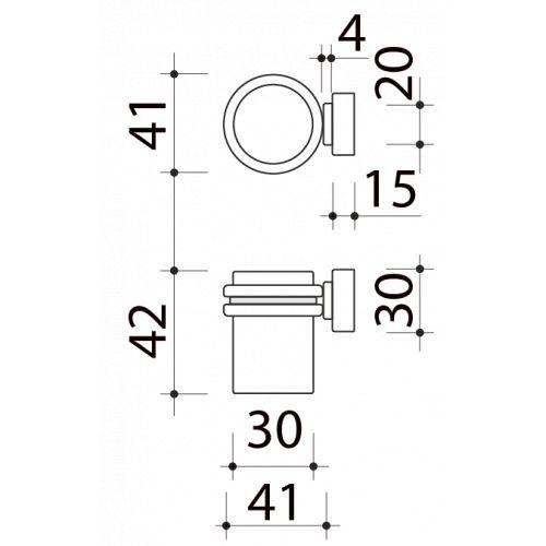 Butée de porte sol, Cylindrique aimantée