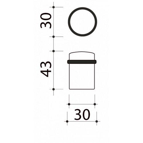 Butée de porte sol, Cylindrique bois