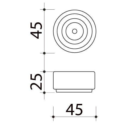 Butée de porte sol, Rond Design
