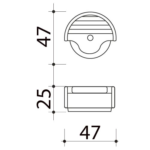 Butée de porte sol, Design