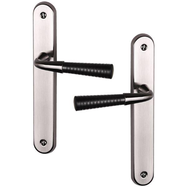 Poignée de porte intérieure moderne en aluminium  à poignée noire modèle Calli fonction bdc