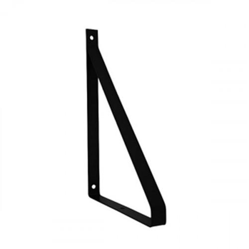 Equerre méplat Métal Noir pour tablette 100 mm