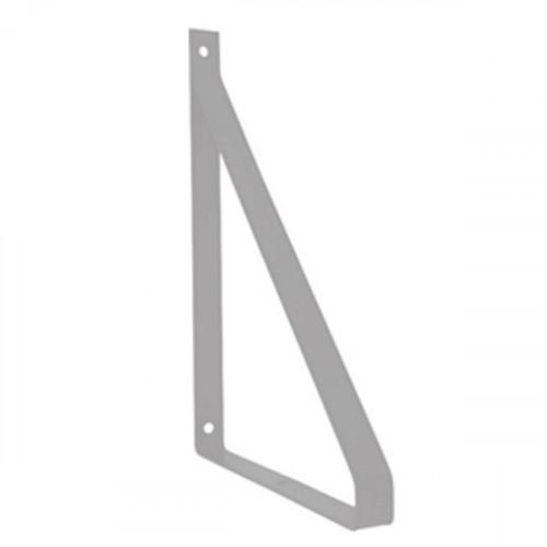Equerre méplat Métal Gris Inox pour tablette 190 mm