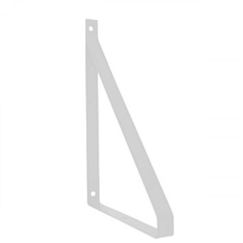 Equerre méplat Métal Blanc pour tablette 190 mm