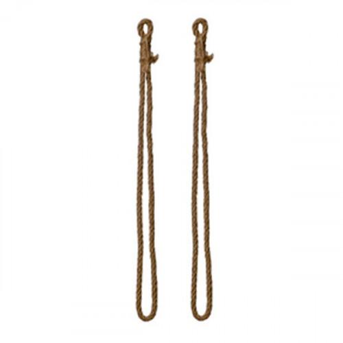 Sangles en corde naturelle pour tablettes 90 a 250 mm